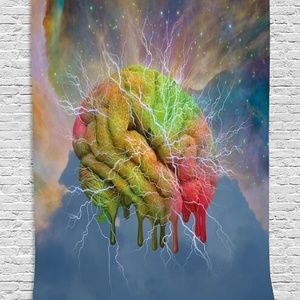 Tapestry Brain Storm Print Wall Hanging Backdrop
